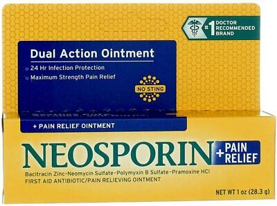 £9.20 • Buy Neosporin Plus Pain Relief First Aid Antibiotic Ointment 28g Expires 09/2022
