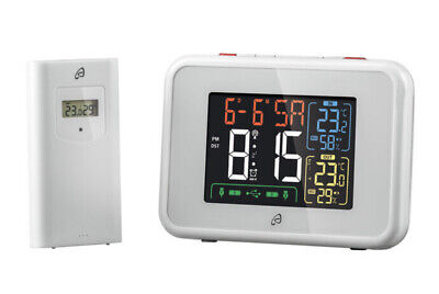 £24.99 • Buy Auriol Radio Controlled Weather Station - Temp, Humidity - White - Free Delivery