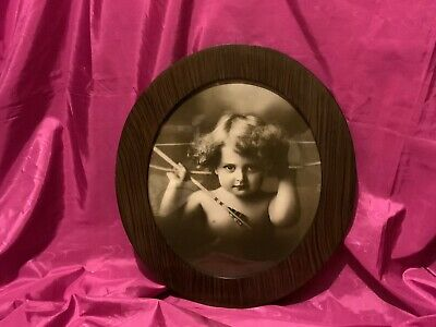$35 • Buy Lovely Vintage Picture Frame With Cupid Awake  M.B. Parkinson Circa 1897