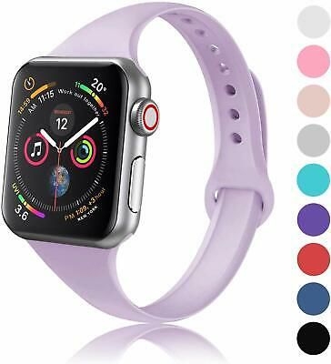 $ CDN6.26 • Buy Thin Sport Silicone Band Strap For Apple Watch Series 6 5 4 3 2 38/42mm 40/44mm