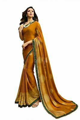 £18.78 • Buy Saree Georgette Designer Wedding Indian Blouse Bollywood New Party Wear Sari Sc