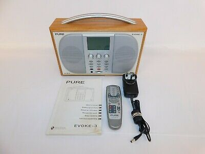 £27 • Buy Pure Evoke 3 DAB Portable Digital Radio With Remote Manual And Aux Input Working