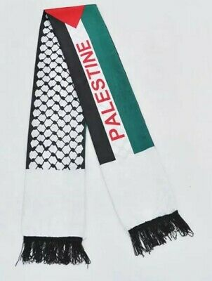 £18.99 • Buy Palestine Flag Scarf / Neck Shemagh /Keffiyeh With Pin Badge Fast & Free Postage