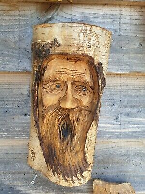 £34.99 • Buy Chainsaw Carved Green Man / Wood Spirit
