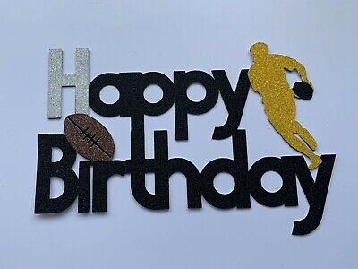 £4.99 • Buy Rugby Cake Topper Happy Birthday