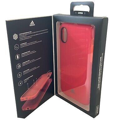 AU12.70 • Buy Adidas Cover Fits IPhone X Matt Red Case Boxed