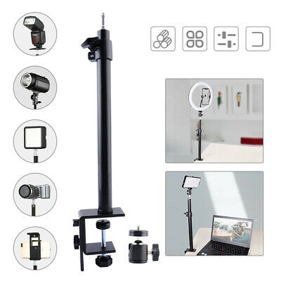 AU28.99 • Buy 360° Table Desk Mount Clamp Stand 1/4  Ball Head For DSLR Camera Ring Light