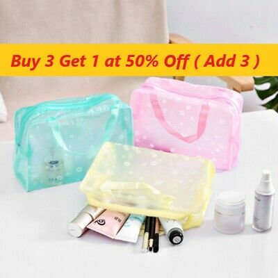 £2.59 • Buy Expandable Travel Hanging Clear Wash Bag Toiletry Organizer Women Make Up Pouch