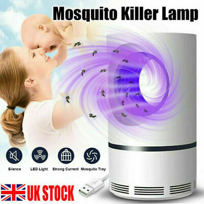 £5.99 • Buy Electric UV LED Light Mosquito Killer Insect Fly-Bug Zapper Trap Catcher Lamp UK