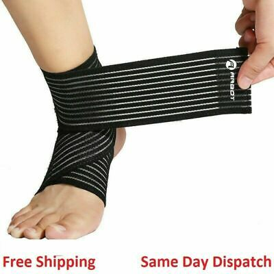 £2.89 • Buy New Ankle Foot Support Strap Adjustable Elastic Compression Bandage Wrap Sports