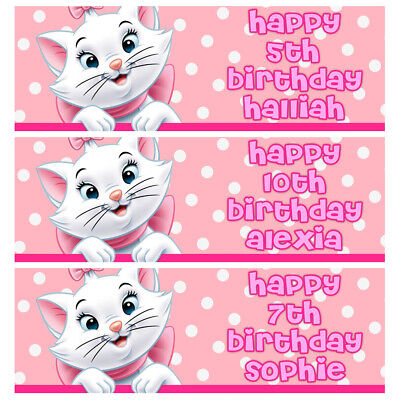 £3.99 • Buy MARIE ARISTOCATS Personalised Birthday Banner - Disney Birthday Party Banner
