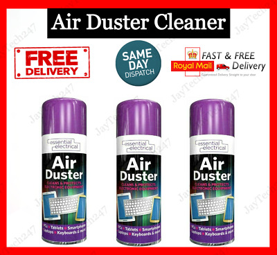 £8.79 • Buy Compressed Air Duster Spray Can Clean Laptop Computer Keyboard Mobile 200ml