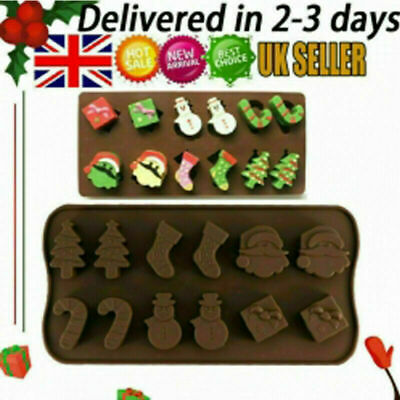 £3.19 • Buy 3d Silicone Mold Christmas Gift Box Present Mould Soap Wax Melt Chocolate UK