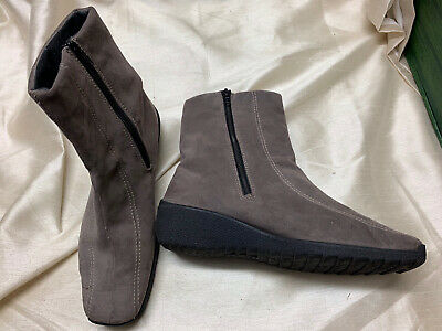 £18 • Buy Rohde Grey Ankle Suede Boots Size 8