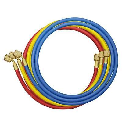 £15.50 • Buy Refrigerant Charging Hose Set Of 3 Blue Yellow And Red 1/4  X 1/4  1.5 M Long