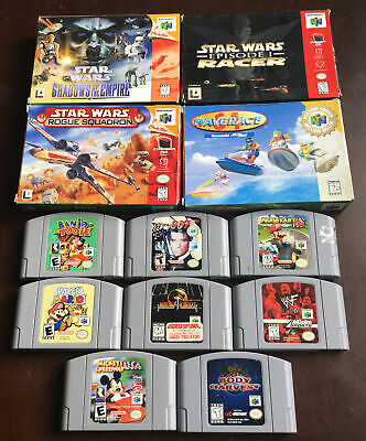 $ CDN600 • Buy Nintendo 64 Game Lot Of 12 Games 4 Of 12 Complete In Box!