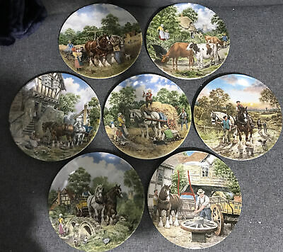 £35 • Buy Wedgewood Life On The Farm Collection Of 7 Plates Vintage Boxed Pub Display Ltd