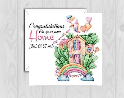 £2.50 • Buy Handmade PERSONALISED New Home House Warming Card Cute