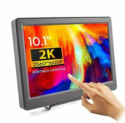 """£198.74 • Buy ELECROW 10.1"""" Touch Screen Monitor 2K 2560 X 1600 USB Portable LCD HDMI DP Input"""