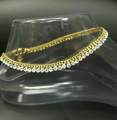 £3.99 • Buy Stunning Diamante Anklet Indian Payal Ankle Chain Single Or Pair