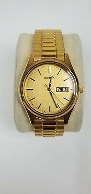 $ CDN180.82 • Buy Vintage SEIKO 7N43-9048 Day Date Men's Watch Gold Dial New Battery Free Shipping