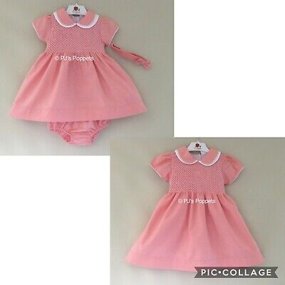 £23 • Buy Baby Girls Spanish Style Dress Outfit Smocked Traditional Salmon