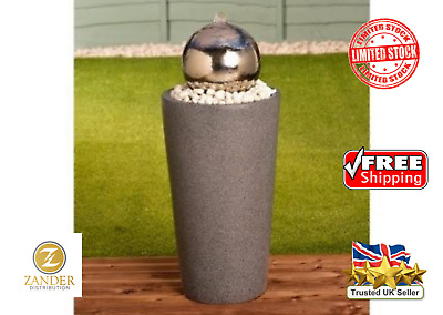 £183.97 • Buy 🇬🇧 New Stainless Steel Gazing Ball Water Feature Garden Patio Outdoor Fountain
