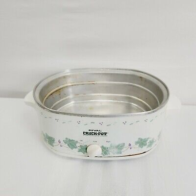 $ CDN21.36 • Buy Vintage Rival 4.5 Qt Oval Crock-Pot Slow Cooker Green - Base Shell Only 8.A8