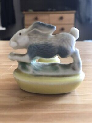 £6.50 • Buy First Whimsie Wade Hare Zoo Light Candle Holder Yellow Base 1957-1960