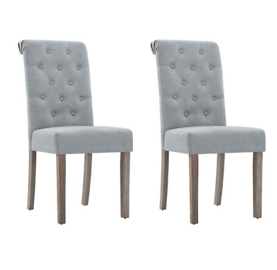 AU185 • Buy  Artiss 2x Dining Chairs French Provincial Kitchen Cafe Fabric Padded High Back