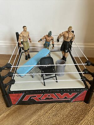 £29.99 • Buy Wwe Wrestling Ring Raw Wrestlers 3 Action Figures Accessories Bundle Job Lot Toy