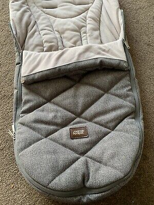 £29 • Buy Mamas And Papas Cold Weather Thick Footmuff Brown Grey Chestnut Coloured