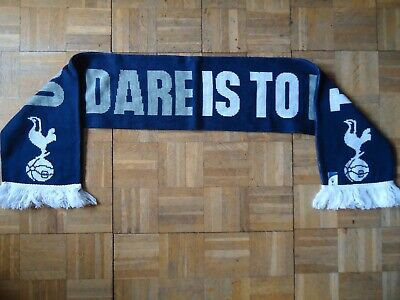 £9.99 • Buy Official Tottenham Hotspur FC To Dare Is To Do Navy Scarf Brand New