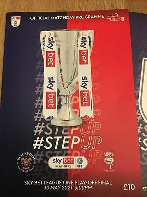 £10.99 • Buy   BLACKPOOL V LINCOLN CITY  30th MAY 2021  OFFICIAL PLAY OFF FINAL  PROGRAMME