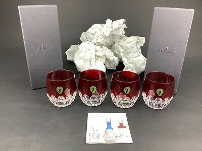AU444.46 • Buy Waterford Mixology Talon Red Set Of 4 Double Old Fashioned DOF Glasses Tumblers