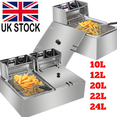 £34.97 • Buy Large Electric Deep Fat Fryer Chip Food Oil Fry Fast Frying Home Commercial UK