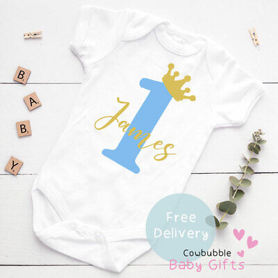 £5.95 • Buy 1st Birthday Outfit Baby Vest, Baby Clothes, Bodysuit, Baby Grow, First Birthday