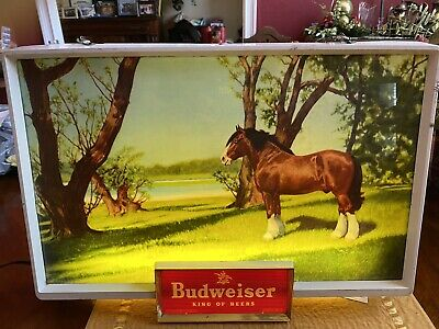 $ CDN2517.70 • Buy VINTAGE 1950s  BUDWEISER CLYDESDALE LIGHTED SIGNS