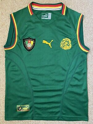 £69 • Buy Rare CAMEROON 2002/2003 Home Football Shirt Vest Jersey Vintage Puma Size S