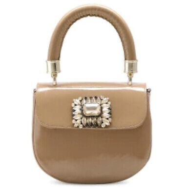 £169 • Buy Russell Bromley Nude Patent Bag Embellished Camel New RRP £275 Mini