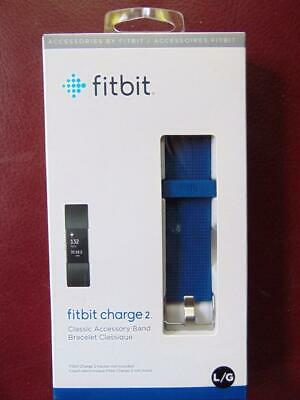 $ CDN9.95 • Buy Fitbit Charge 2 Classic Band Water Resistant Accessory Blue Sz Large New In Box