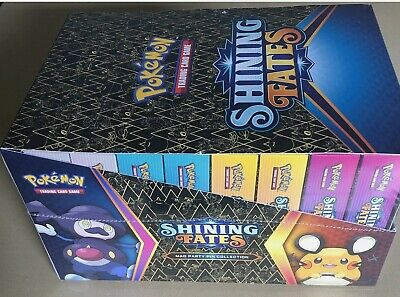 AU280 • Buy Pokemon TCG Shining Fates Mad Party Pin Collection Factory Sealed Case - 8 Boxes