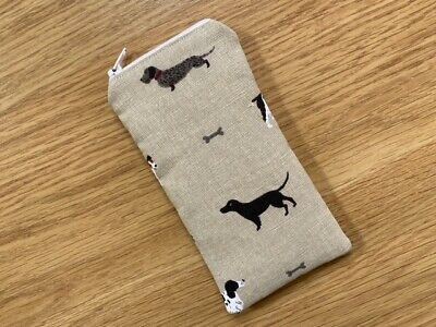 £5.65 • Buy Handmade Glasses Sunglasses Zipped Case Pouch - Sophie Allport Woof Dogs Fabric