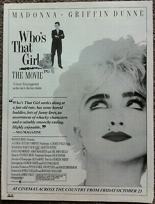 £3.95 • Buy MADONNA ~ WHO'S THAT GIRL  1987 Full Page UK Magazine Ad