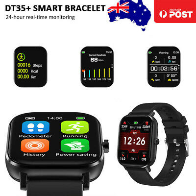 AU45.59 • Buy Sports Smart Watch Heart Rate Blood Pressure Monitor ECG Phone Call IOS Android