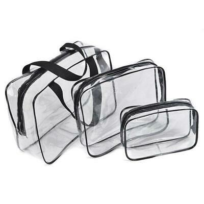 $8.05 • Buy S/M/L PVC Clear Cosmetic Makeup Toiletry Zipper Bag Case Travel Holder Pouch Bag