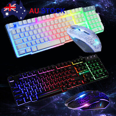 AU19.99 • Buy Rainbow Keyboard Mouse Set For PS4 PS3 Xbox One And Xbox 360 Gaming Backlight J