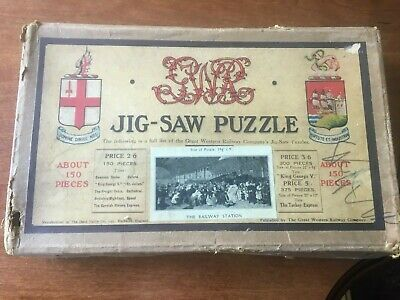 £12.99 • Buy CHAD VALLEY: 1920s GWR 150-PIECE WOODEN JIGSAW  RAILWAY STATION  2 MISSING