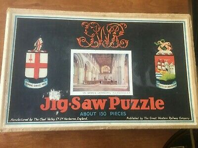£12.99 • Buy CHAD VALLEY: 1920s GWR 150-PIECE WOODEN JIGSAW  ST DAVID'S CATHEDRAL  2 MISSING