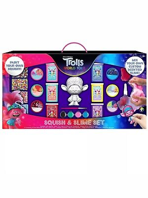 AU25.58 • Buy Trolls World Tour Squish And Slime Set, 6 Containers Of Slime,Paint Squishy, NIB